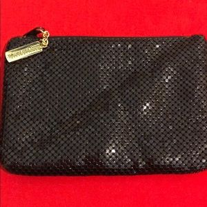 WHITING AND DAVIS ZIPPERED CLUTCH